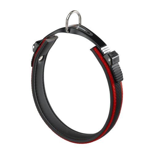 Ferplast 75454922 Halsband mit Polsterung für Hund, Ergocomfort C25/60, Breite: 25 mm, Halsumfang: 52-60 cm, rot