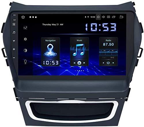 Android 10.0 Coche Estéreo GPS Unidad de la unidad navegación para Hyundai Santa Fe IX45 2013-2017 Pantalla táctil de 9 pulgadas AUTO NAV SAT SAT SWC Online / Offline Map MultiMedia Player, 4 + 64GB