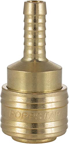 Poppstar Schnellkupplung Druckluft NW 7,2 mit Schlauchtülle LW 8 mm für Druckluft-Anschluss