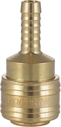 Poppstar Attacco Rapido per Aria Compressa DN 7,2 con Beccuccio per Tubi da 8mm