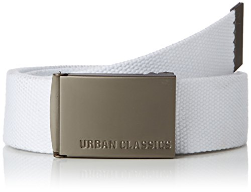 Urban Classics Gürtel Canvas Belt Unisex, white, one size