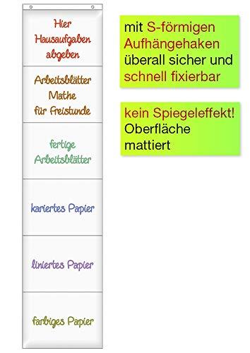 TimeTex Hänge-Orga-Taschen A4 - 6 Einstecktaschen im Querformat - mit Haken - TimeTex 10662