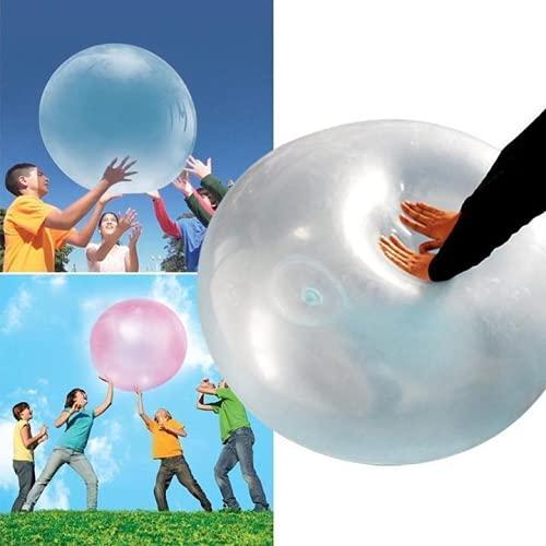 4 bolas de burbujas de TPR, bola de burbujas rellenas de agua, bolas inflables al aire libre, regalo para niños, globo de rebote para actividades al aire libre (40 cm)