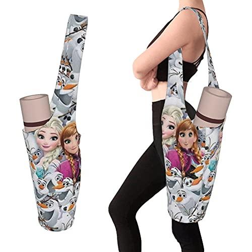 Bolso de la estera de la yoga de la personalidad de la moda de Elsa con el poeta de gran tamaño, se adapta a la mayoría de las esteras del tamaño