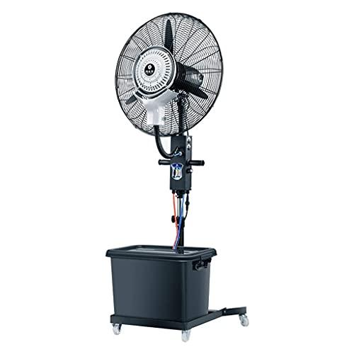 yanzz Ventiladores Nebulización oscilante de Servicio Pesado Circulador de Aire frío de Alta Velocidad Potente Ventilador de Piso con 3 configuraciones de Velocidad - Pulverizador de Doble Conduct