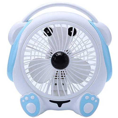 GyfHMY Draagbare kantoorventilator voor luchtcirculatie, reis-ventilator, mini-gebruik, bureau, voor thuiscamping, Hurricane, rustig, 2 snelheden, compact, opvouwbaar, met netadapter