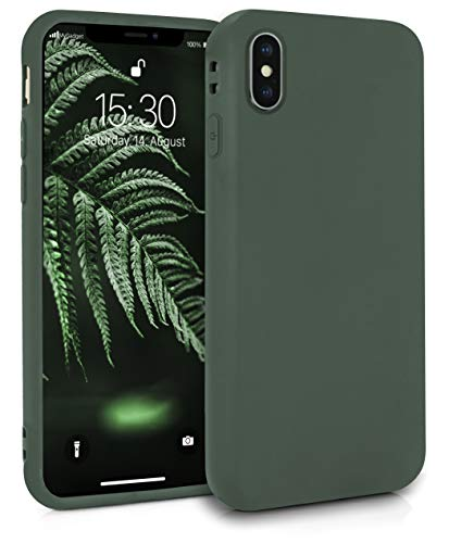 MyGadget Friendly Pocket Custodia TPU per Apple iPhone XS Max - Case Ultra Morbida con Bordi Rinforzati – Cover Silicone Antiurto e AntiGraffio - Verde