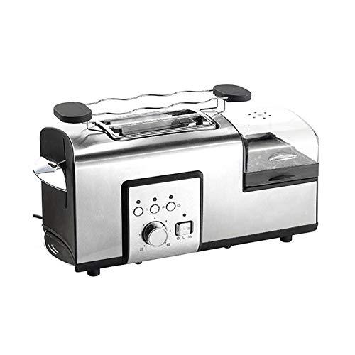 Z-Color Hogar Multifuncional 5 en 1 máquina de Pan con la Caldera del Huevo 2 rebanadas tostadora con Vapor, Ancho de Corte Largo, 7 Browning Modos de Control