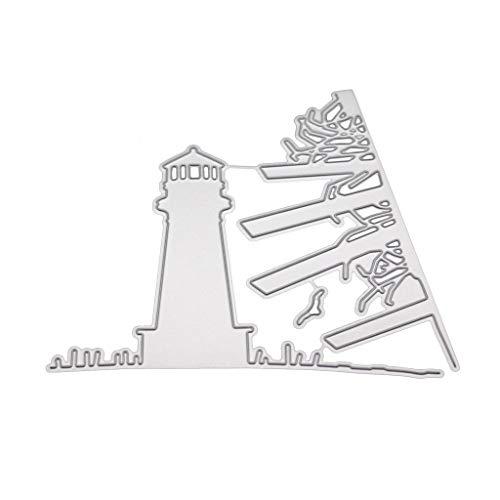 WuLi77 Leuchtturm Metall Stanzschablone Die Stanzen Zum Basteln Von Karten, Prägeschablone Für Scrapbooking, DIY Album, Papier, Karten, Kunst, Dekoration
