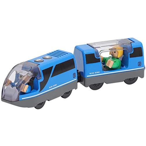 QoFina Eisenbahn elektrische lok Holzeisenbahn Zug,Electric Train Toy, Kinder Lokomotive Kompatibel mit Holzschienen Kinder Spielzeug Junge Mädchen Kleinkind Spielzeug