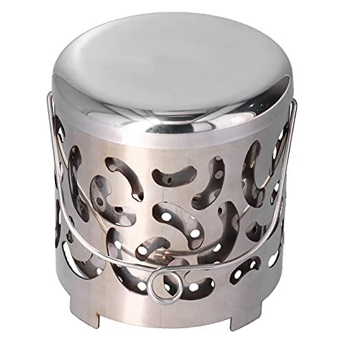 KAKAKE Calentador para Acampar, Calentador para Exteriores Resistente A Altas Temperaturas, Pequeño Y Portátil para Picnics Y Acampadas Al Aire Libre