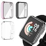 Braleto Custodia Rigida 3 pezzi Compatibile con Xiaomi MI Watch Lite, Custodia Protettiva PC Ultra Sottile Senza Bolle Completa per Xiaomi MI Watch Lite