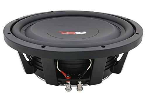 DS18 SW10S4 Shallow Mount Subwoofer - 10' Speaker, 1,000W MAX Power, 500W RMS, Paper Cone, Black Aluminum Basket, Single Voice Coil 4 Ohm Impedance, Treated Rubber Edge for Durability