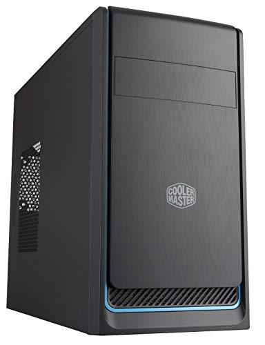 Gabinete Cooler Master MasterBox E300L Azul, M-ATX, Lateral Fechada, Com Baia ODD