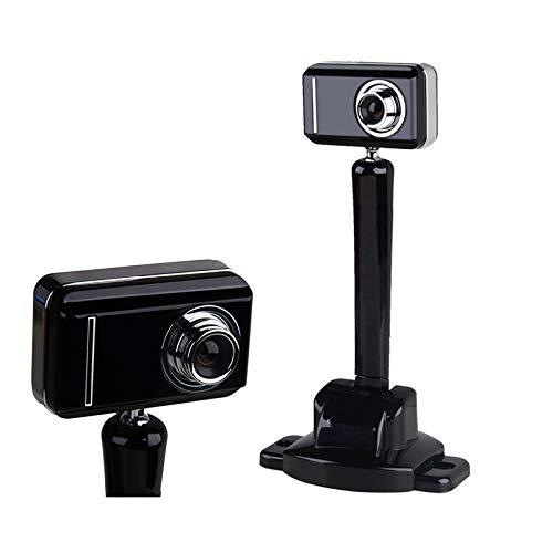 LZRDZSWYXGS HD 1080p cámara Webcam con Obturador de privacidad - Pantalla Ancha, Video Llamada y grabación de Video Red Privacidad Obturador Libre del trípode con Doble micrófono Digital Suitable for