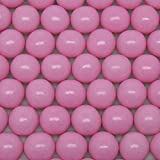Light Pink Gumballs - One Inch in Diameter - 2 Pound Bag - About 120 Gumballs Per Bag - Includes 'How to Build a Candy Buffet' Guide