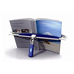 Easy-Read book holder portable book stand for reading with one hand.