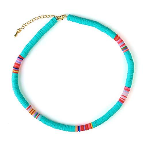KELITCH Colliers De Perles en Caoutchouc Coloré Colliers en Col D'amitié, Fait à La Main Meilleur Cadeau pour Les Femmes Filles