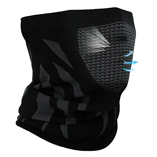 Achiou Winter Neck Gaiter Warmer Face Mask Cover For Men Women Soft Comfortable for Running Skiing Outdoor in Cold Weather