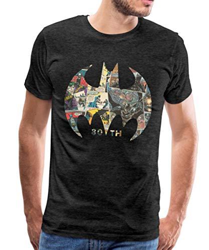 Batman 80 Ans BD T-Shirt Premium Homme, 4XL, Charbon