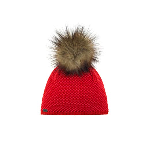 Eisbär Damen Sanja Lux MÜ Mütze, Fiery red/divapink-h.braun, One Size