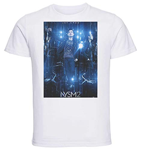 Instabuy T-Shirt Unisex - White Shirt - Now You See Me 2 Nysm Jay Chou Size Small