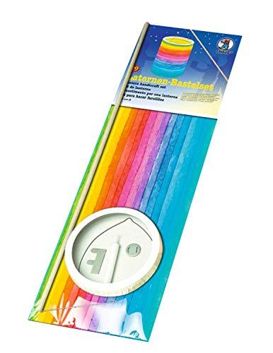 Ursus 7430000 – Juego de Manualidades de farolillos, Rayas Arco Iris, Aprox. 20 x 15,3 cm, de Papel Transparente, Juego para Crear farolillos Hechos a Mano, Ideal para el Camino de la Linterna
