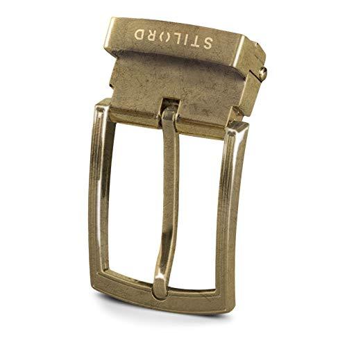 STILORD Hebilla de Cinturón Vintage Belt Buckle Cinturones Hebillas para Correa de Cuero 34mm, Color:hebilla bronceada antigua I