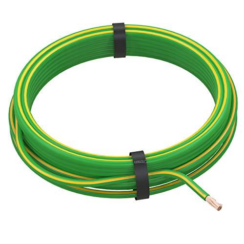 AUPROTEC Fahrzeugleitung 4,0 mm² FLRY-B als Ring 5m oder 10m Auswahl: 5m, grün-gelb