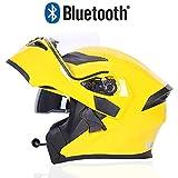 Flip Modulare Casco Moto Full Face Integrale Casco Bluetooth Anti-Appannamento Doppia Lente Quattro Stagioni Casco Integrale off-Road ECE 22.05