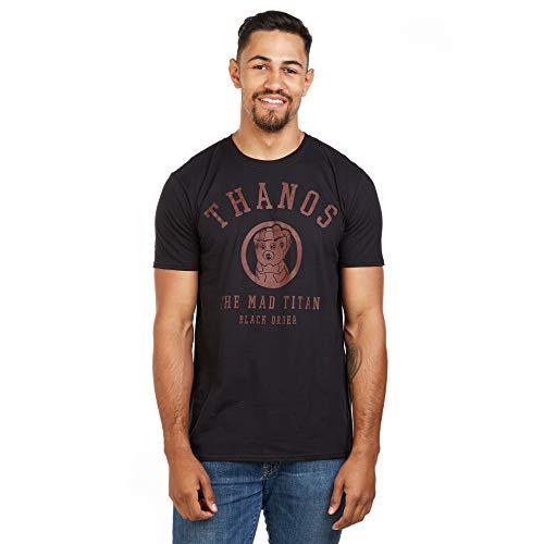 Marvel The Mad Titan-Mens T Shirt Med, Nero (Black Blk), (Taglia Unica: Medium) Uomo