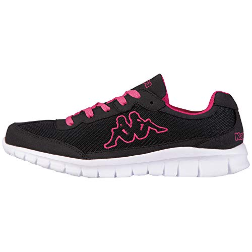 Kappa Rocket, Zapatillas Unisex Adulto, Negro (Black/l`Pink 1127), 39 EU