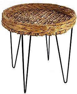 Spetebo Diseño Mesa Auxiliar de Jacinto de Agua 44x 40cm–Sofá Mesa Mesa de café Negro