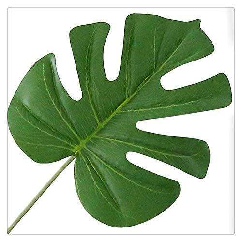 KAERMA 1pc große künstliche gefälschte Monstera Palme Blätter grün Kunststoff Blatt Hochzeit DIY Dekoration billig Pflanze Blumen Anordnung Indoor-Grün (Size : A)