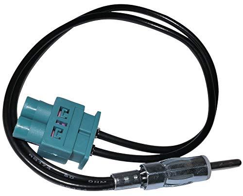 Aerzetix C4556 Câble Adaptateur d'Antenne Autoradio Double FAKRA-DIN