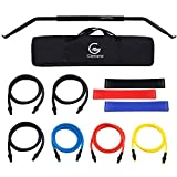 Glemme Bow Portable Home Gym Resistance Bands, Fitness Equipment System with Bow, Resistance Band Set, Weightlifting Training Kit, Full Body Workout Equipment