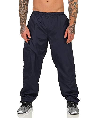 ZARMEXX Herren Jogginghose Trainingshose Sporthose Thermo Freizeithose Jogger Sportswear warm gefüttert blau XL/2XL