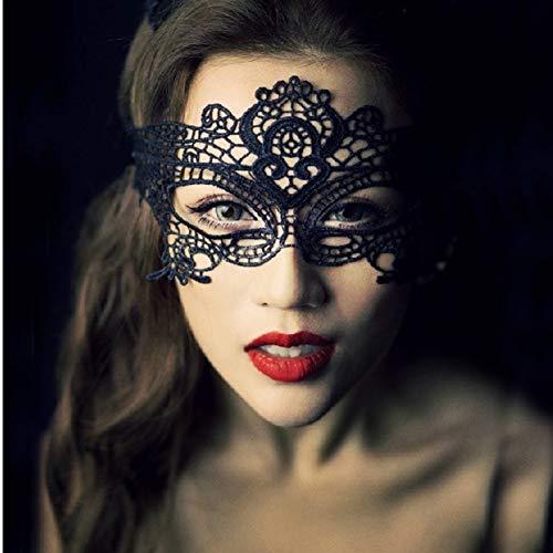 SKY TEARS Schwarze Spitze Augenmaske Maskerade Venezianische Maske Abendkleid Tanz