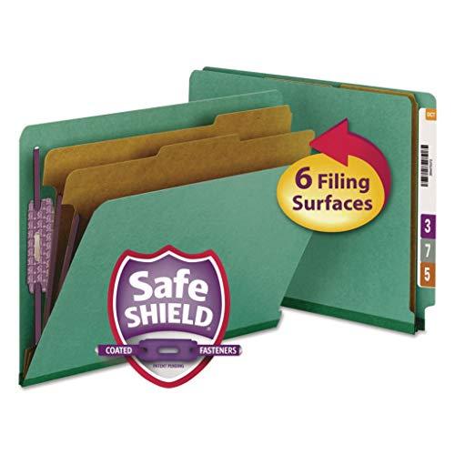 SMD26783-크기:SAFESHIELD 코팅 패스너가있는 편지-SMEAD 컬러 프레스 보드 엔드 탭 분류 폴더-10 상자