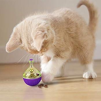 Legendog Lot de 2 Boules de Nourriture pour Chat, Jouet Amusant pour Animal Domestique