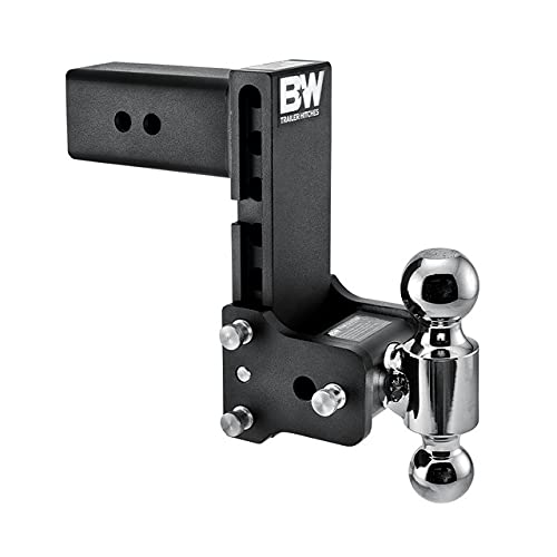 B&W Trailer Hitches Tow & Stow - Fits 3  Receiver, Dual Ball (2  x 2-5 16 ), 7.5  Drop, 21,000 GTW - TS30040B