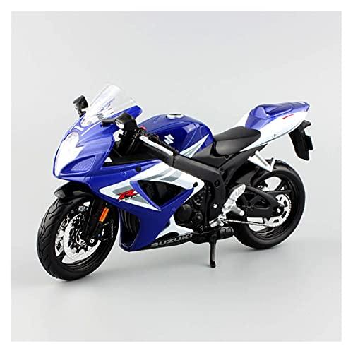 El Maquetas Coche Motocross Fantastico 1:12 para Suzuki GSX R750 Modelos Fundición A Presión Metal Motocicleta Mini Coche Carreras Motor Moto Deportivo Juguetes para Niños Regalos Juegos Mas Vendidos