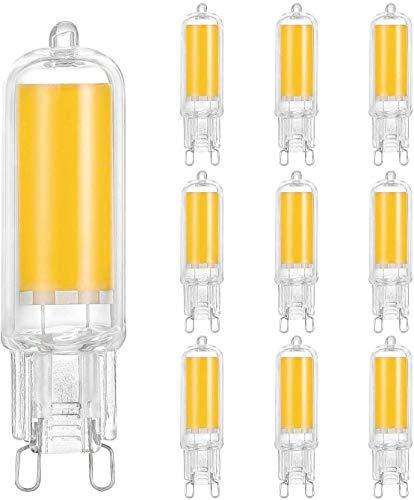 10er Pack G9 LED Lampe, Linkind 40W Halogenlampen ersetzt, 400LM G9 Leuchtmittel mit Glasschale, 2700K Warmweiß, CE ErP-zertifiziert