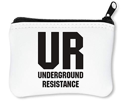 UR Underground Resistance Billetera con Cremallera Monedero Caratera