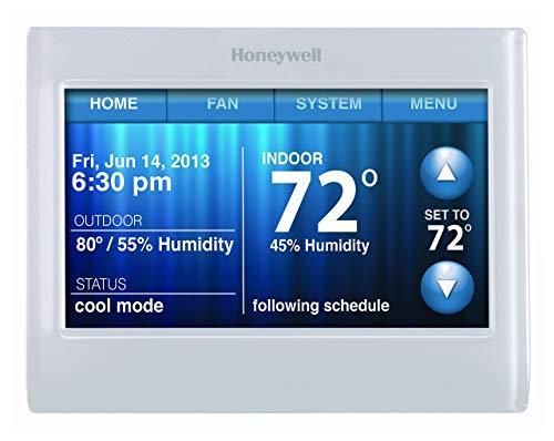 Honeywell TH9320WF5003 - Termostato de pantalla táctil a color WiFi 9000, funciona con Alexa, necesita cable C (renovado)