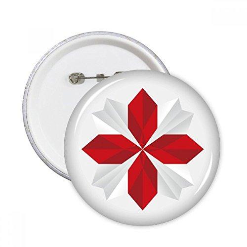 DIYthinker Regalo modelo abstracto de Navidad Flor de Origami pernos redondos insignia del botón de la ropa de la decoración 5pcs Multicolor XXL