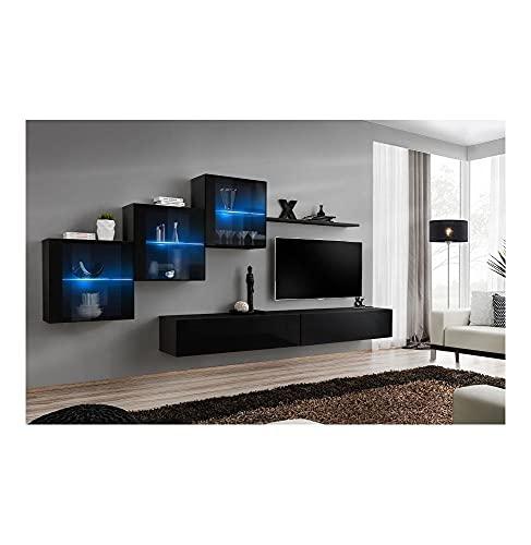 ASM Ensemble TV - 7 éléments - Noir