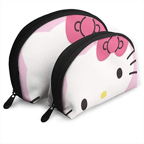 Sac de Maquillage Noir Kitty Sacs de Voyage Petit Sac à Coque Sac de Toilette Portable Pochette 2Pcs