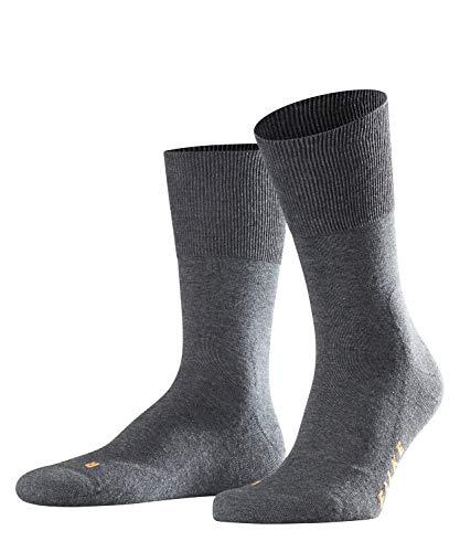 FALKE Unisex Run Ergo Unisex Baumwoll Strümpfe Einfarbig 1 Paar Socken, Grau (Dark Grey 3970), 42-43 EU