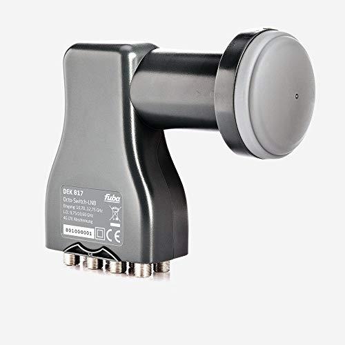 Fuba DEK 817 Octo LNB - Octo Universal LNB 8 Teilnehmer mit optimaler Mobilfunkabschirmung, mit Wetterschutzgehäuse (digital, HDTV-tauglich, 4K/UHD-tauglich, 3D-tauglich)